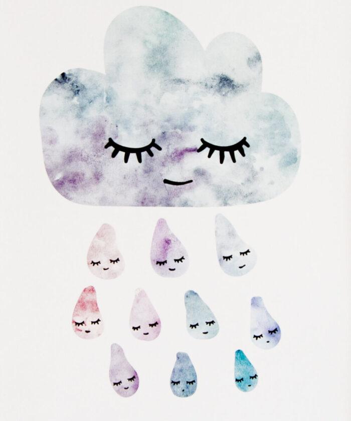 Lempeästi hymyilevä pilvijuliste.